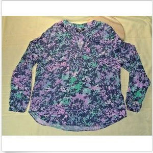 Relativity Womens Multi-Colored Pullover Blouse XL